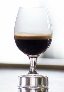 Nespresso kaffe i glas