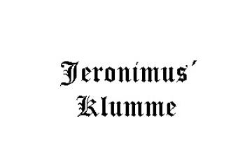 Jeronimus Klumme – kan Riedel fejle?